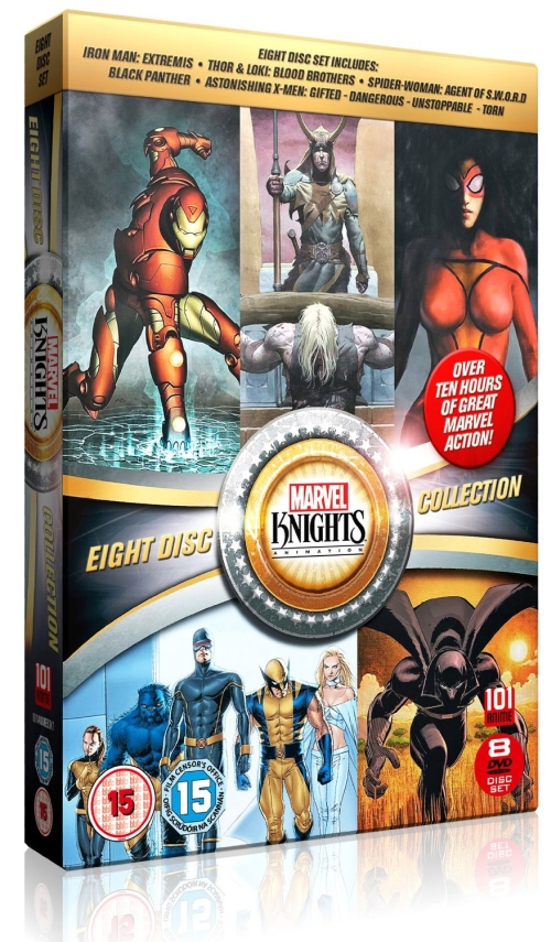 Marvel Knights Animation Thor Loki Blood Brothers & Iron Man Extremis